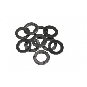 Black Leather Ring for Handlebar Grip (10 pieces) - BYB 331