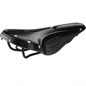 Brooks B17 Narrow Carved Black