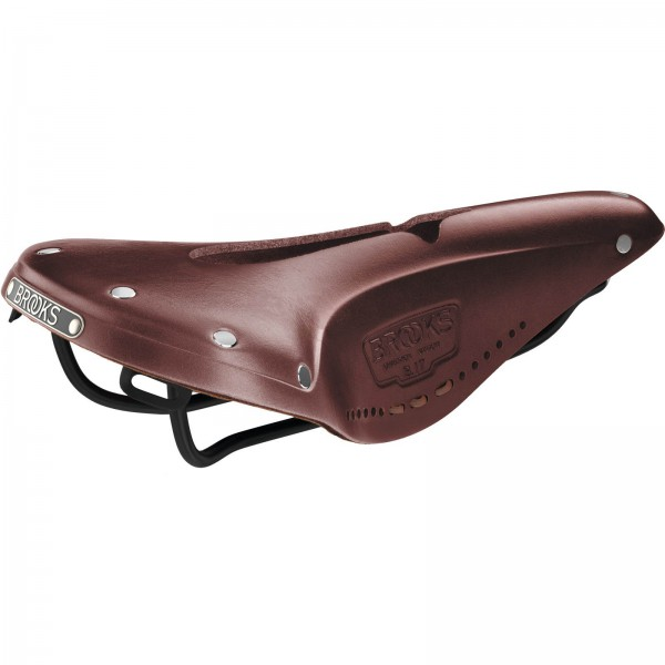 Brooks B17 Narrow Carved Brown